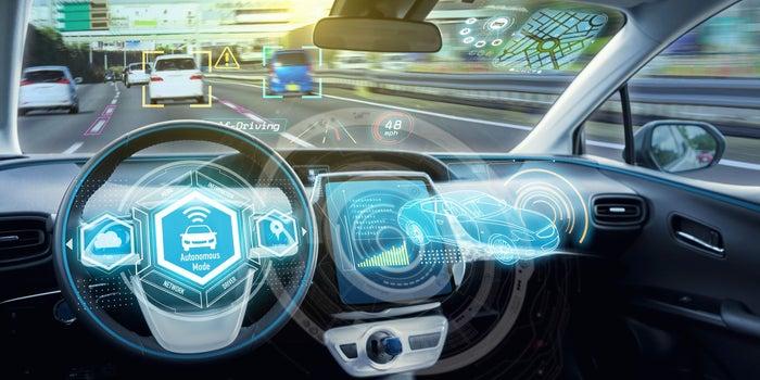 Автономен автомобил отвътре табло
